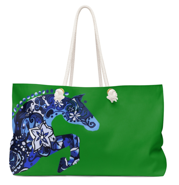 Kelly Green Hunter Jumper tote bag