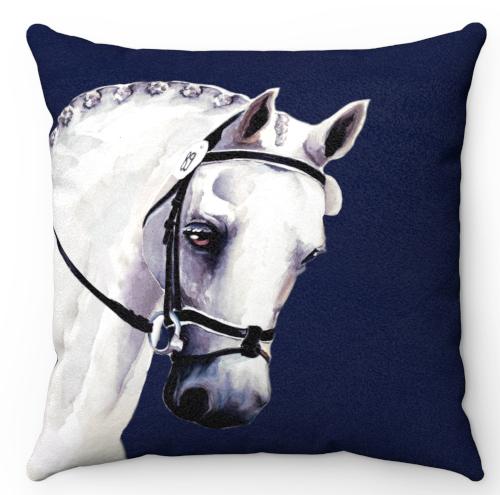 Lovely Grey Horse Throw Pillow