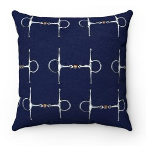 Blue Equestrian Throw Pillow