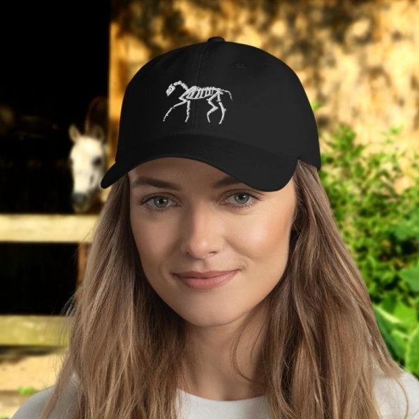 horse skeleton hat for halloween or veterinarians or horse lovers