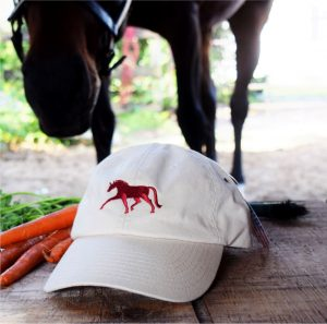 baseball cap with horses