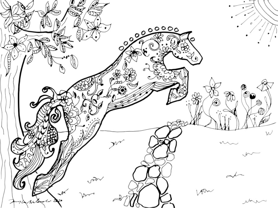 coloring page floral jumper 72 dpi x 1000