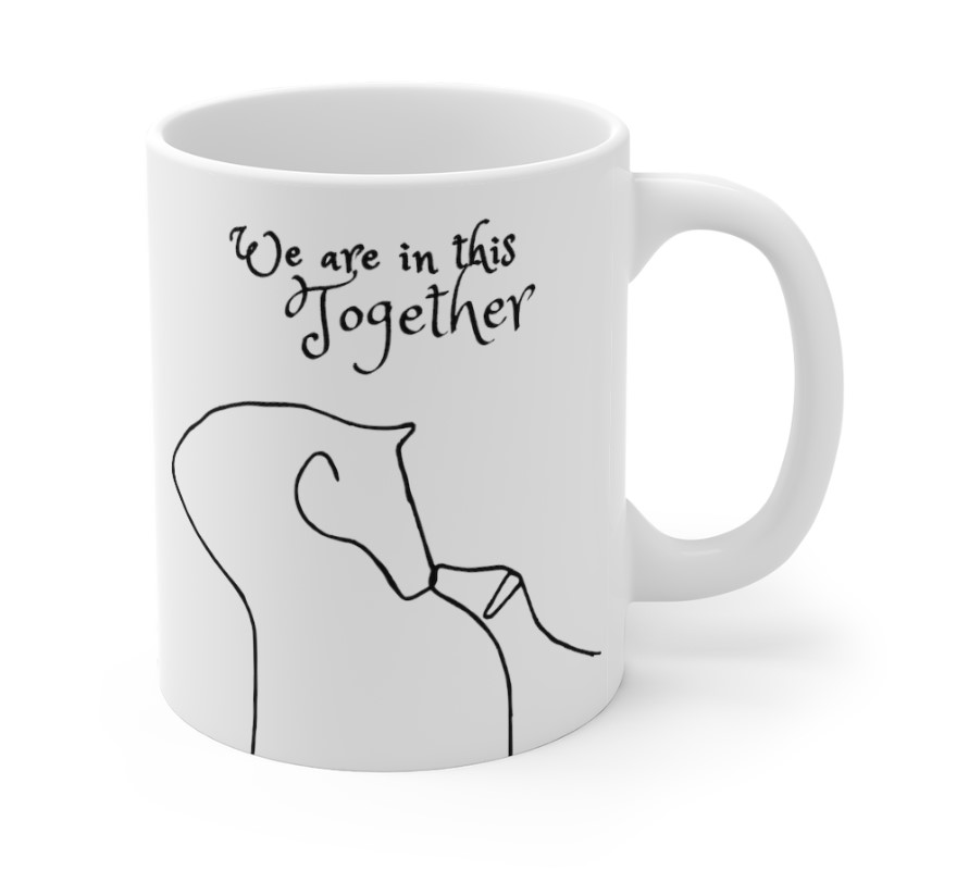 ceramic mug IN this together horse and hound right 11 ounce