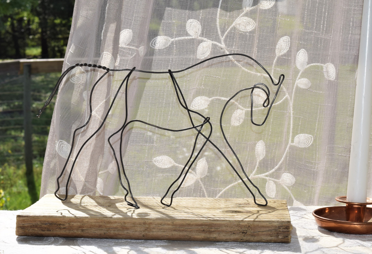 Metal Horse Sculpture Serenity