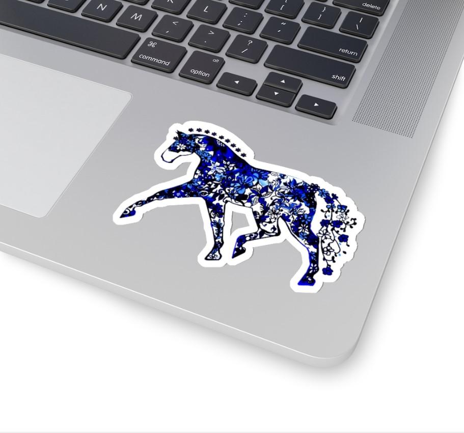 sticker blue dressage