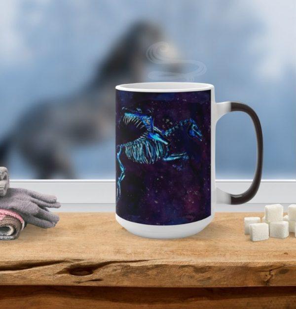 skeleton horse pegasus mug