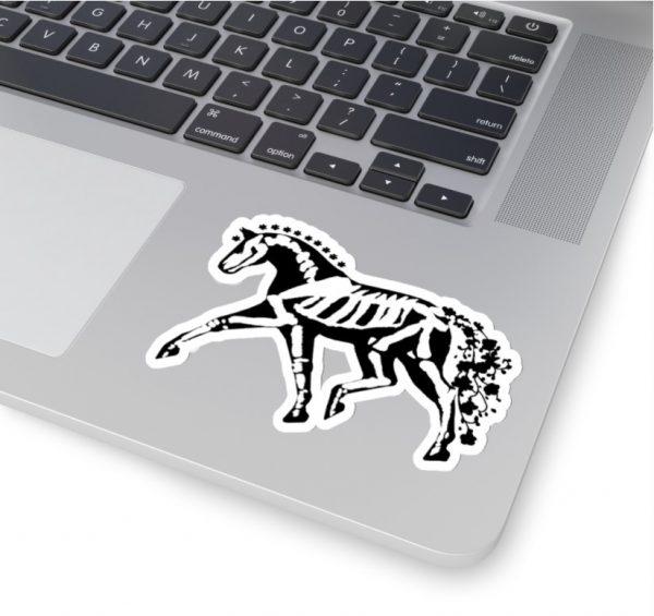 dressage horse skeleton sticker