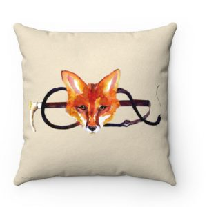 Fox and whip throw pillow
