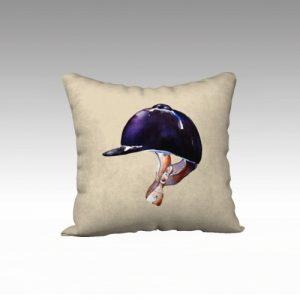 Euestrian helmet pillow 18 x 18