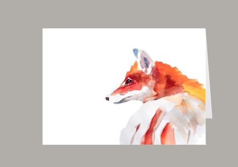 fox watercolor wall art RemiLee Design