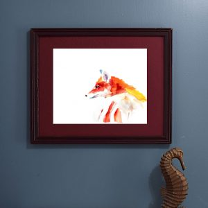 Red Fox Watercolor painting wall art