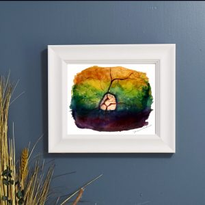 Canine retina wall art