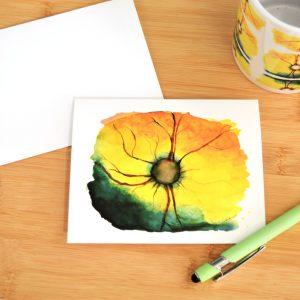 Feline retina watercolor art notecards set of 5