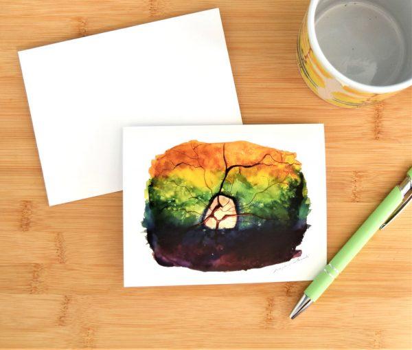 Canine retina watercolor card set