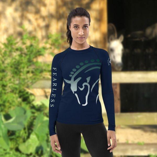 long sleeve equestrian riding shirt