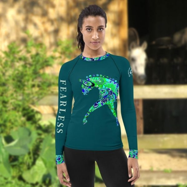 Fearless Equestrian shirt in teal