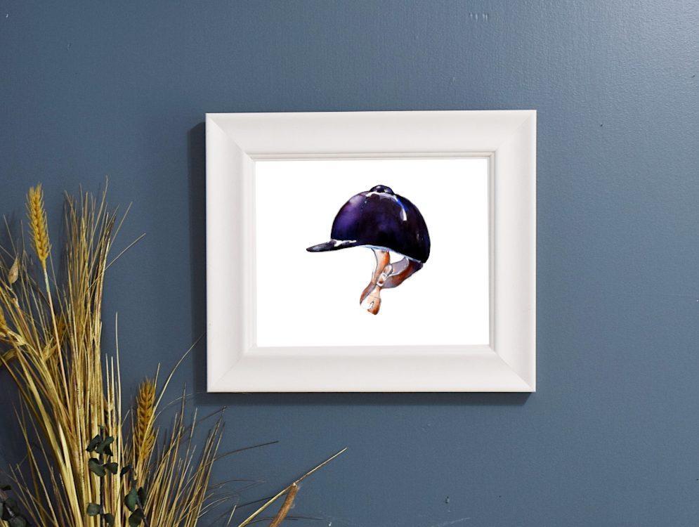 helmet in frame