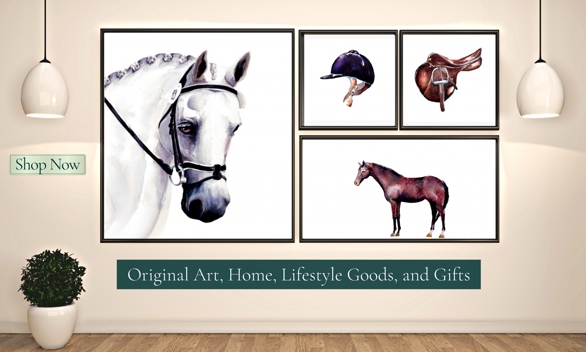 Horse themed art, home, lifestyle and gifts