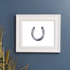 watercolor horsehoe