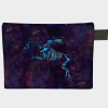 Spectral Skellisus winged horse creature on a starry night sky zipper pouch