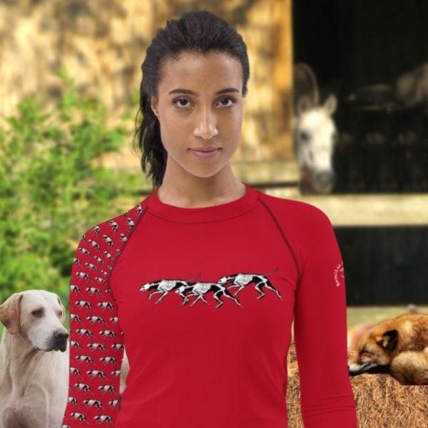 Halloween Fox Hunting shirt in red